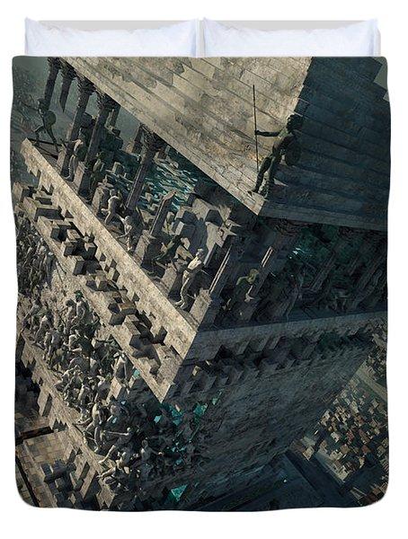 wonders Mausoleum at Halicarnassus Duvet Cover