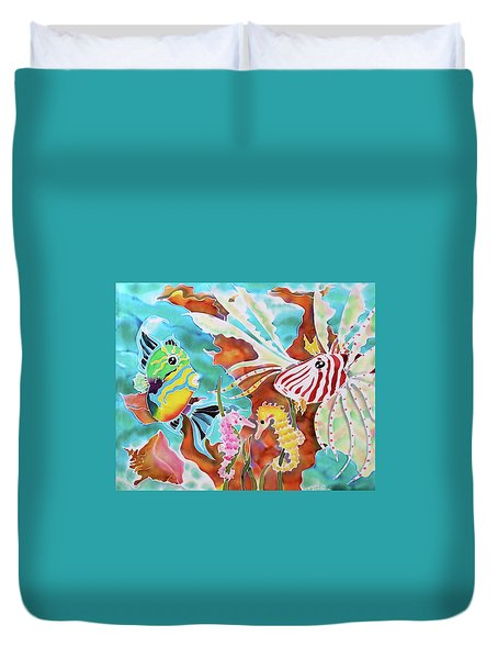 Wonders Of The Sea Duvet Cover