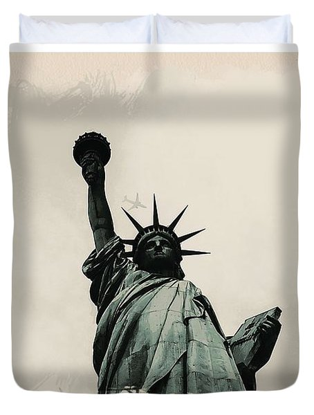 Wonders Of The Worlds - Lady Liberty Duvet Cover