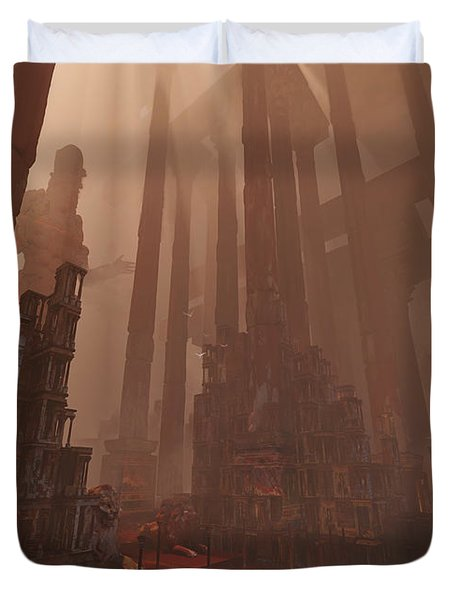Wonders_temple Of Artmeis Duvet Cover