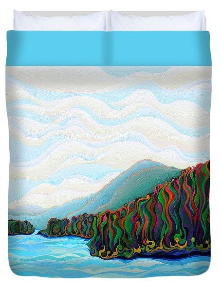 Woo Hoo  Mountains Duvet Cover