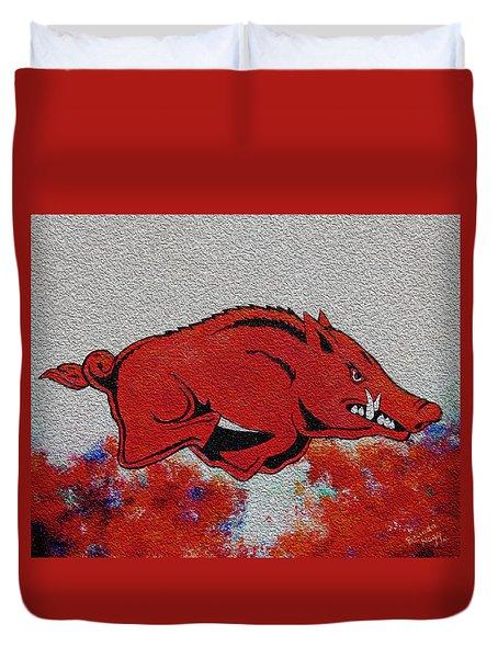 Woo Pig Sooie 2 Duvet Cover by Belinda Nagy
