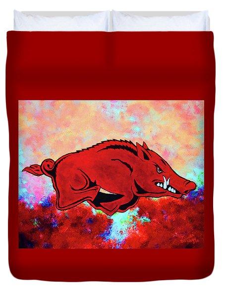 Woo Pig Sooie 3 Duvet Cover by Belinda Nagy