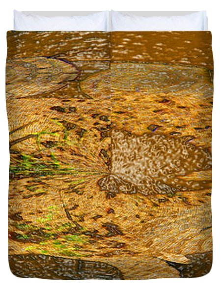 Duvet Cover featuring the photograph Wood Abstracted by Lenore Senior