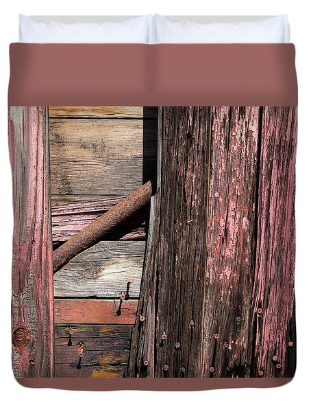 Duvet Cover featuring the photograph Wood And Rod by Karol Livote