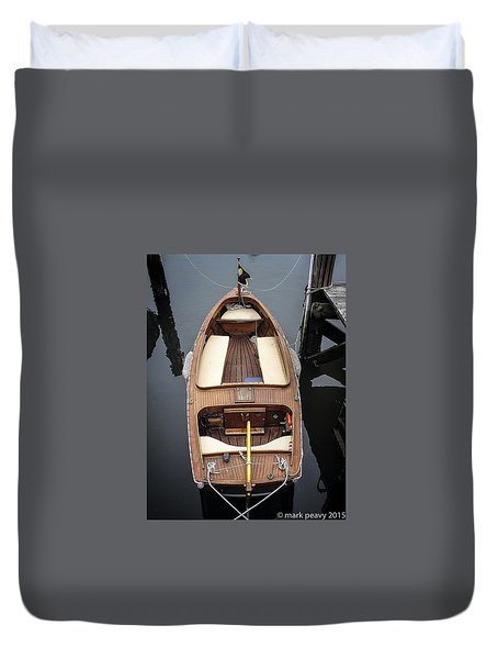Wood Boat Nantucket Duvet Cover