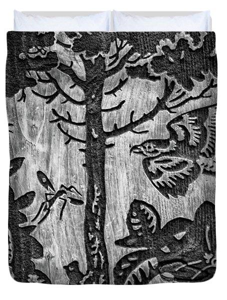 Wood Carvings Duvet Cover