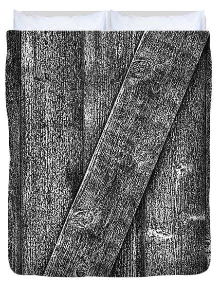 Wood Door With Handle Detail Duvet Cover