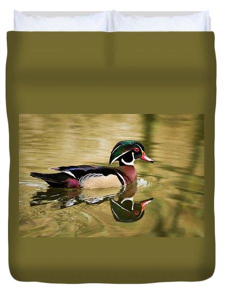 Wood Duck Cruising Duvet Cover