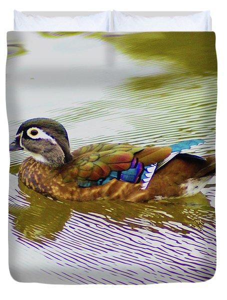 Wood Duck Hen Duvet Cover