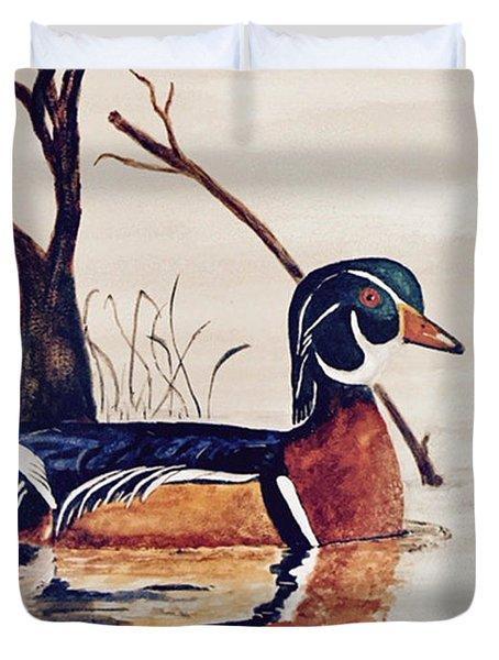 Wood Duck No. 2 Duvet Cover
