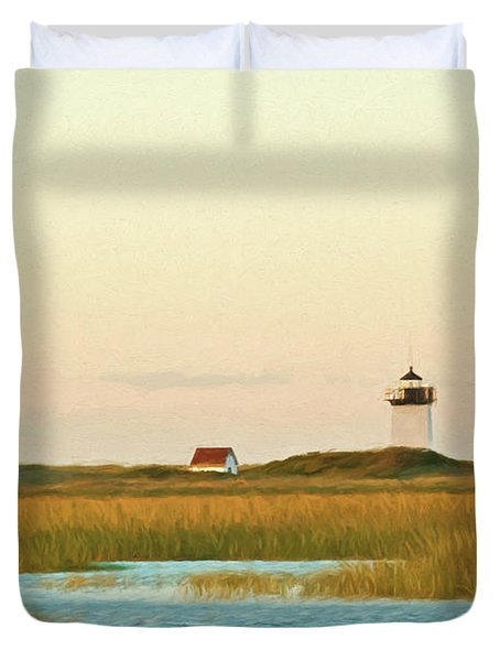Wood End Lighthouse Duvet Cover