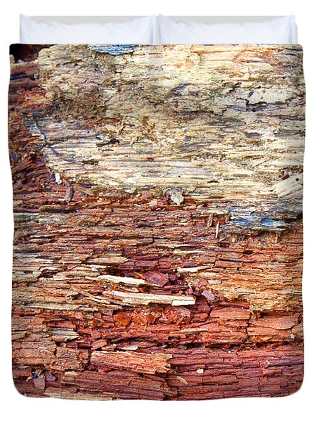 Duvet Cover featuring the photograph Wood by Milena Ilieva