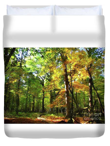 Wood Plank Trail Duvet Cover