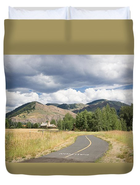Wood River Bike Path Duvet Cover