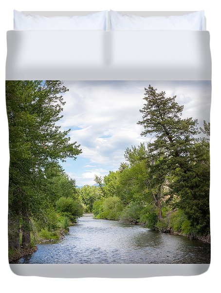 Wood River Crossing Duvet Cover