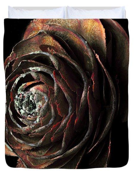 Wood Rose Duvet Cover