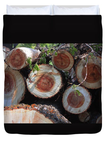 Wood Stock Duvet Cover