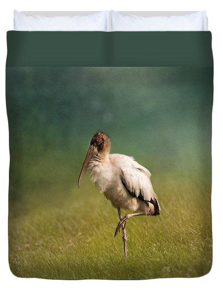 Wood Stork - Balancing Duvet Cover