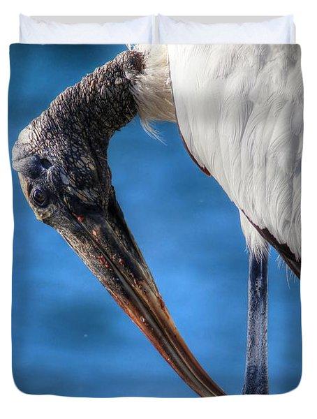 Wood Stork Duvet Cover