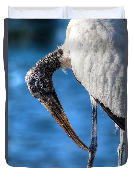 Wood Stork Duvet Cover