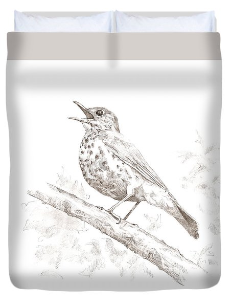 Wood Thrush Duvet Cover