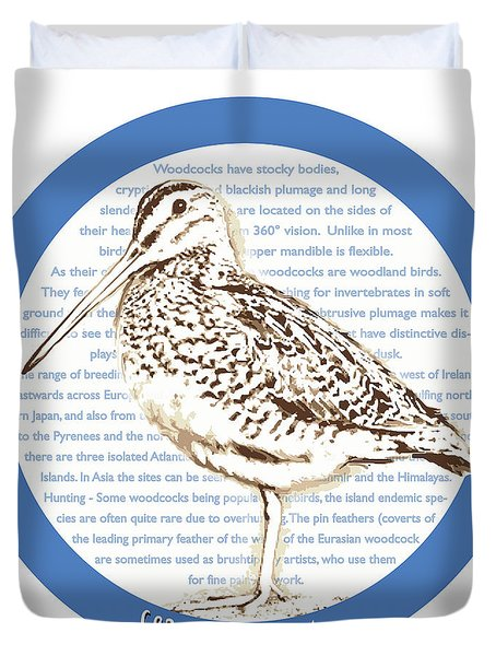Woodcock Duvet Cover by Greg Joens