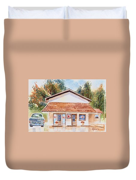 Woodcock Insurance In Watercolor  W406 Duvet Cover by Kip DeVore