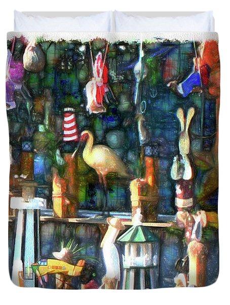 Woodcraft Giftshop In Montour Falls Duvet Cover