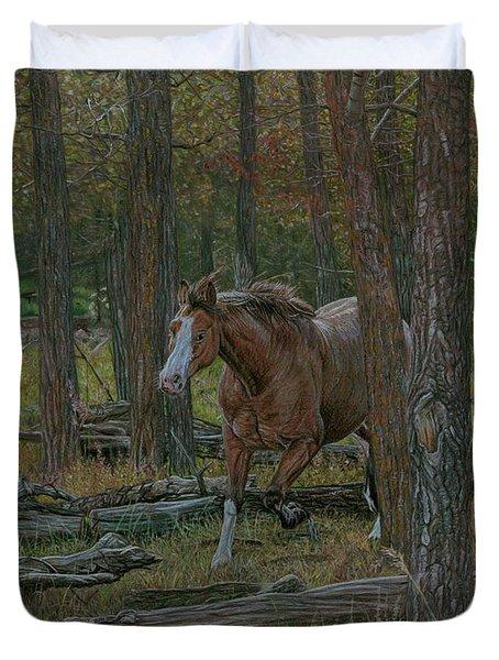 Wooded Run Duvet Cover