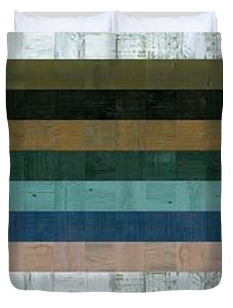 Wooden Abstract Xl Duvet Cover by Michelle Calkins