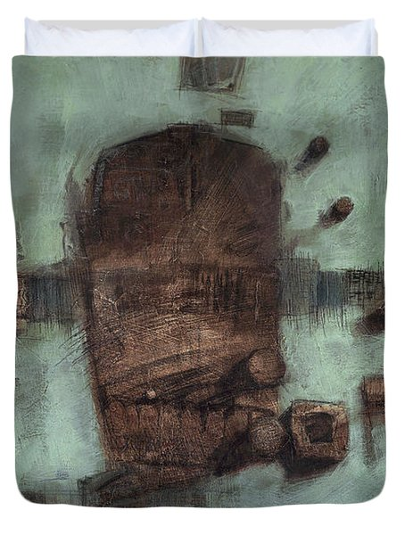 Symbol Mask Painting - 05 Duvet Cover