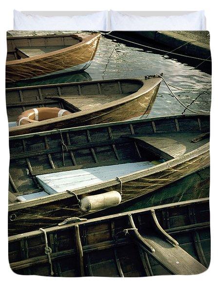 Wooden Boats Duvet Cover