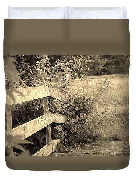 Wooden Bridge Duvet Cover