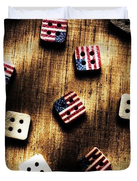 Wooden Button America Duvet Cover