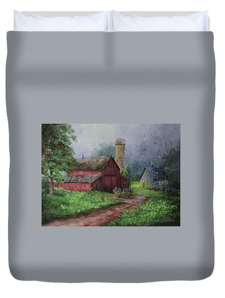 Wooden Cart Duvet Cover