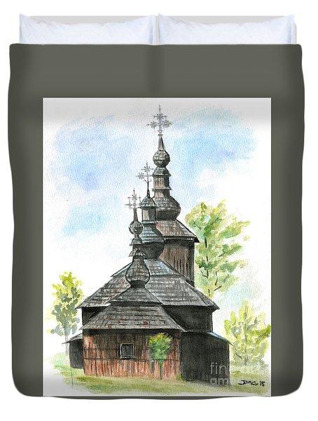 Wooden Church Duvet Cover by Jana Goode