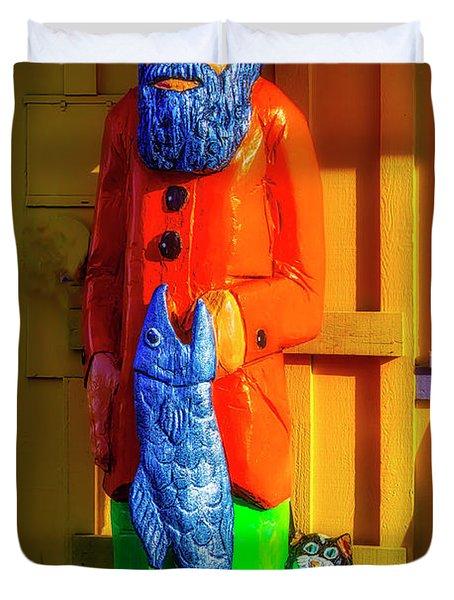 Wooden Fisherman Duvet Cover