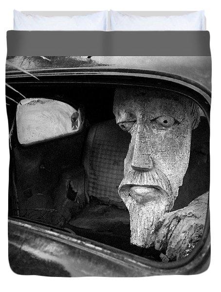 Wooden Head Duvet Cover