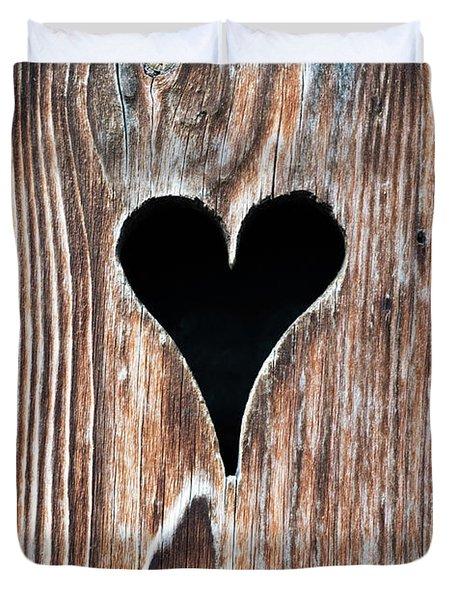 Wooden Heart Duvet Cover