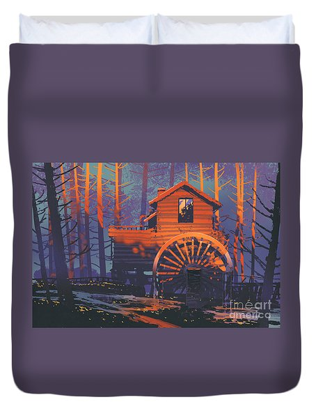 Wooden House Duvet Cover