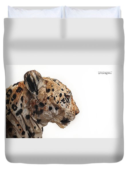 Duvet Cover featuring the photograph Wooden Panther by Stwayne Keubrick