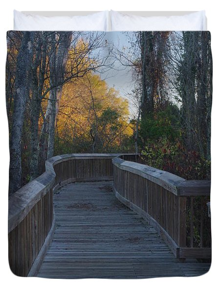 Wooden Path Duvet Cover