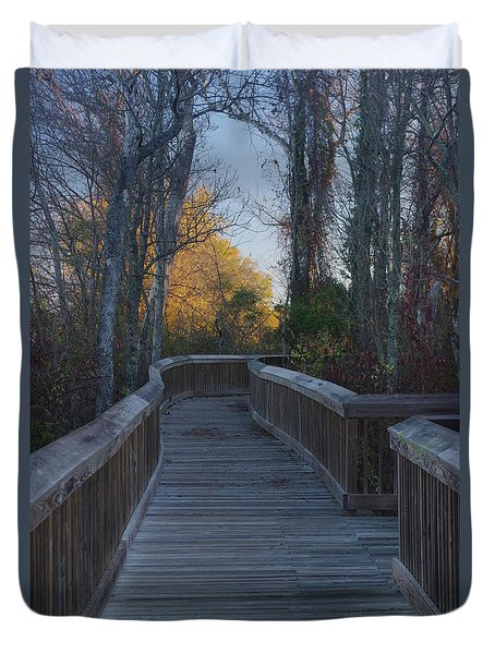 Wooden Path Duvet Cover