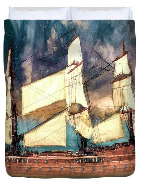 Wooden Ship Duvet Cover