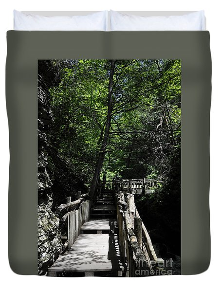 Wooden Trails - Three Duvet Cover