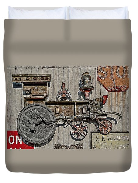 Wooden Train Duvet Cover