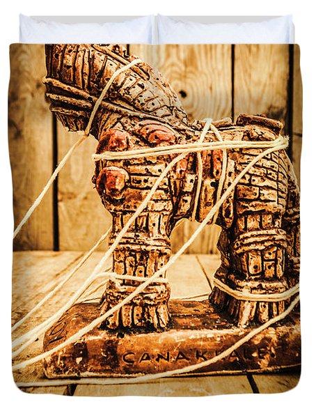 Wooden Trojan Horse Duvet Cover