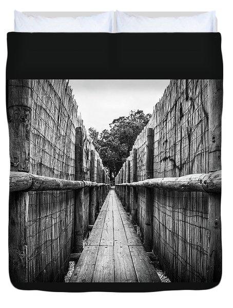 Wooden Walkway. Duvet Cover