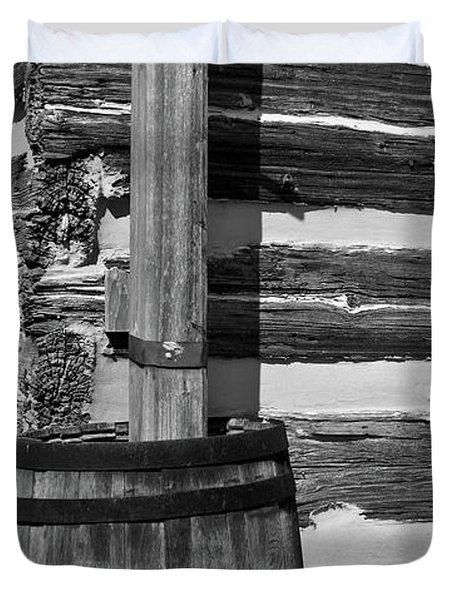 Wooden Water Barrel Duvet Cover by Douglas Barnett